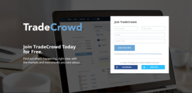 Lander page on TradeCrowd